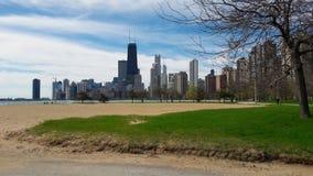 Chicagowski linia horyzontu z John Hancock obserwatorium obrazy stock