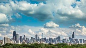 Chicagowski linii horyzontu miasta czasu upływ zdjęcie wideo