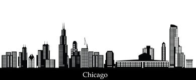 Chicagowski linii horyzontu złoto Zdjęcia Stock