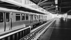 Chicagowski metro Zdjęcia Royalty Free