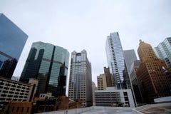 Chicagowski miasto linii horyzontu ulicy widok Zdjęcia Royalty Free