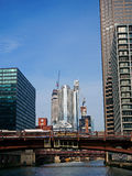 Chicagowski miasto, widok Od rzeki Obraz Royalty Free