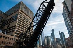 Chicagowski & Północno-zachodni Kolejowy most zdjęcia royalty free