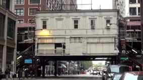 Chicagowski staci metru metra overground - miasto Chicago zdjęcie wideo