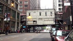 Chicagowski staci metru metra overground - miasto Chicago zbiory