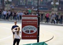Chicagowski Tramwaj i Podwajający Decker Firma zdjęcie royalty free