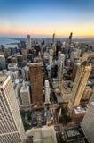 Chicagowski zmierzch od wzrostów Obraz Royalty Free
