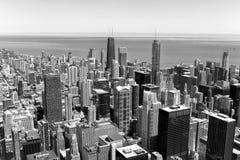 Chicagowskiego pejzażu miejskiego odgórny widok, usa obrazy stock