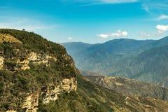 Chicamocha峡谷在桑坦德,哥伦比亚 免版税图库摄影