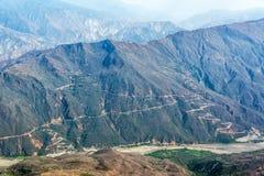 Chicamocha kanjon Royaltyfri Bild