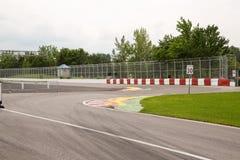 Chicane la parete d'avvicinamento dei campioni sul circuito Gilles Vill fotografie stock libere da diritti