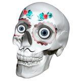 Chicano del tatuaggio del cranio rappresentazione 3d fotografia stock