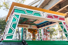 Chicano Park Pavilion/Kiosko With Freeway On-Ramp Above stock photography
