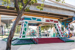 Chicano Park Pavilion/Kiosko in San Diego royalty free stock photos