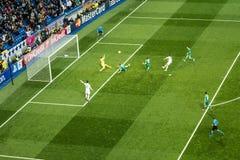 Chicarito Hernandez - Real Madrid contro i ludogorets 4-0 Fotografie Stock Libere da Diritti