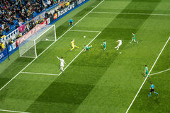Chicarito hernandez - Real Madrid vs ludogorets 4-0 Royaltyfria Foton