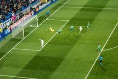 Chicarito hernandez - Real Madrid vs ludogorets 4-0 Fotografering för Bildbyråer