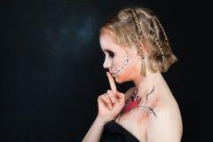 Chicas jóvenes con maquillaje del amor Fotos de archivo libres de regalías