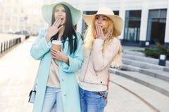 Chicas jóvenes hermosas en sombreros Imagen de archivo libre de regalías
