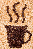 Chicchi di caffè. immagini stock
