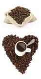 Chicchi di caffè. Immagine Stock