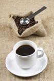 Chicchi di caffè. Fotografie Stock