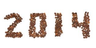 chicchi 2014 di caffè Fotografie Stock