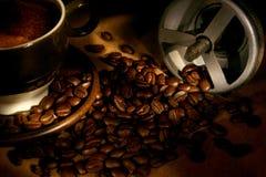Chicchi di caffè Immagini Stock