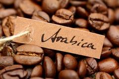 Chicchi di caffè, arabica fotografia stock