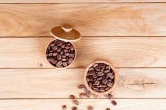 Chicchi di caffè arrostiti Fotografie Stock Libere da Diritti