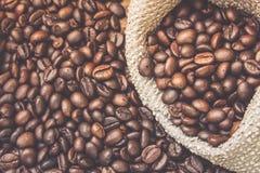 Chicchi di caffè arrostiti fotografia stock