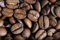 Chicchi di caffè arrostiti macro Fotografia Stock Libera da Diritti
