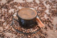 Chicchi di caffè, caffè nero Immagine Stock Libera da Diritti