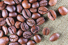 Chicchi di caffè chiusi-su Fotografia Stock