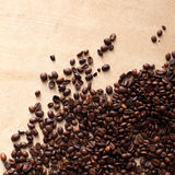Chicchi di caffè con lo spazio della copia Fotografie Stock