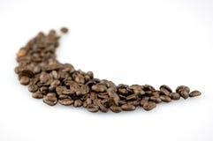 Chicchi di caffè del Brown immagine stock