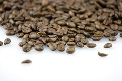 Chicchi di caffè del Brown fotografia stock libera da diritti