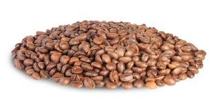 Chicchi di caffè del mucchio Fotografia Stock