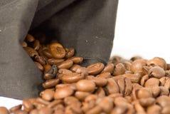 Chicchi di caffè del primo piano Fotografia Stock