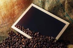 Chicchi di caffè di concetto di affari Fotografia Stock Libera da Diritti