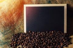 Chicchi di caffè di concetto di affari Fotografie Stock