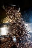Chicchi di caffè di recente arrostiti fotografia stock libera da diritti