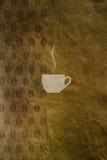 Chicchi di caffè e della tazza di caffè Fotografia Stock Libera da Diritti