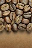 Chicchi di caffè e spazio del testo Fotografia Stock