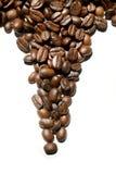 Chicchi di caffè a forma di come triangolo Fotografie Stock Libere da Diritti