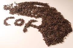 Chicchi di caffè freschi Immagine Stock