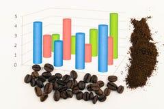 Chicchi di caffè di Infographic fotografie stock libere da diritti