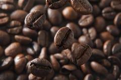 Chicchi di caffè macro Immagini Stock Libere da Diritti