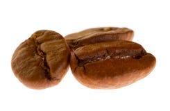 Chicchi di caffè a macroistruzione Fotografia Stock