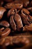 Chicchi di caffè a macroistruzione Fotografie Stock